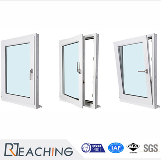 China Manufacturer Cheap White UPVC Tilt Turn Windows