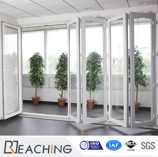 Double Glazing Exterior Interior Bi-Folding 5 Panel Sliding Door