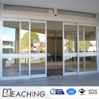 Horizontal Sliding UPVC Door with Line Decorative Grid Anti-Noise