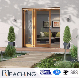 Glass Folding Door with Nosie Proof Smoothly Bi-Folding Aluminium Window