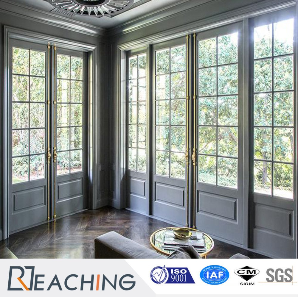 UPVC French Doors High Quality Large Wooden Front Doors Soundproof Bedroom Door