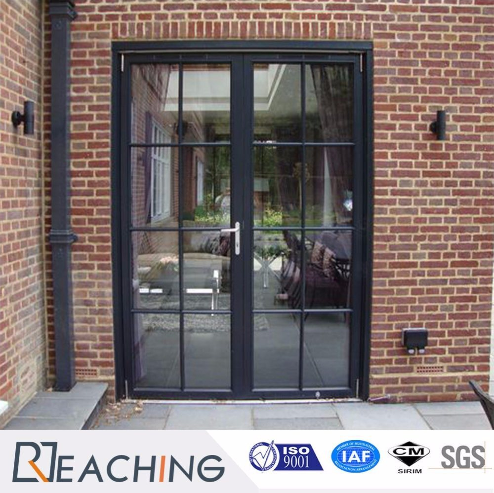 Modern Grid Aluminium Hinged Door with Frame Cover