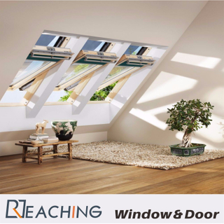 Revolved Window Witth High Clear Tempered Glass Sound Proof Thermal Break Design