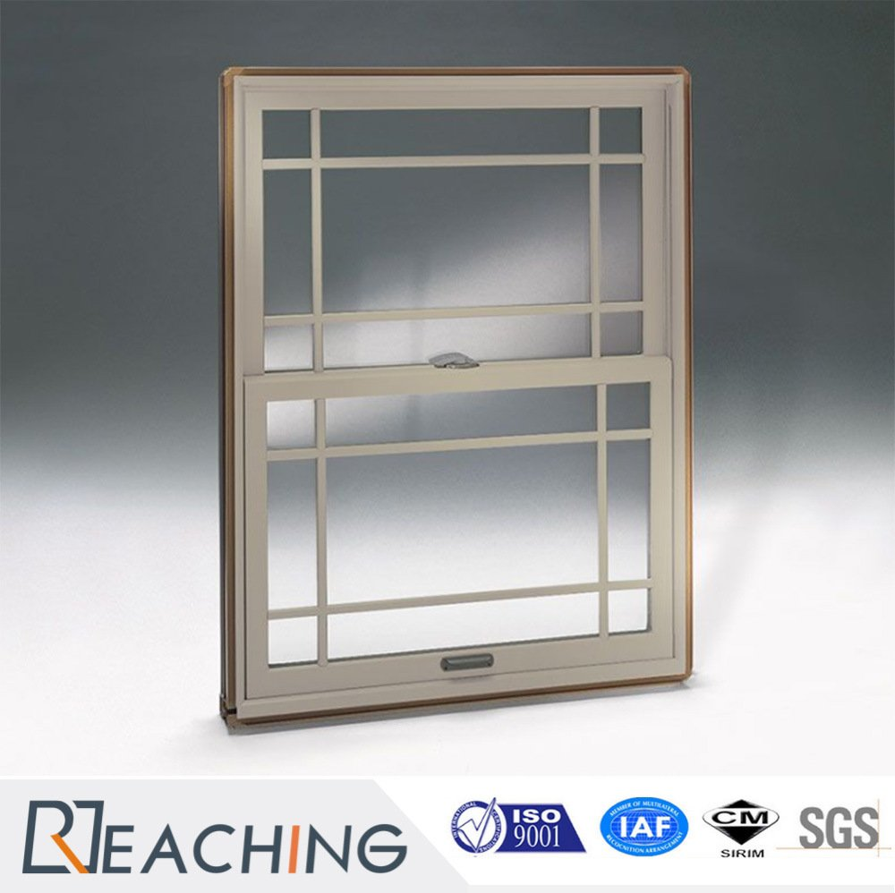 Latest Design Red Colour UPVC Profile Hung Window