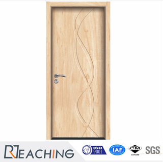 Elegant Maple Grain Vinyl Composite Door Custom Made as Demand