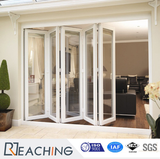 Strong Double Glazing UPVC / PVC Bi Folding Door