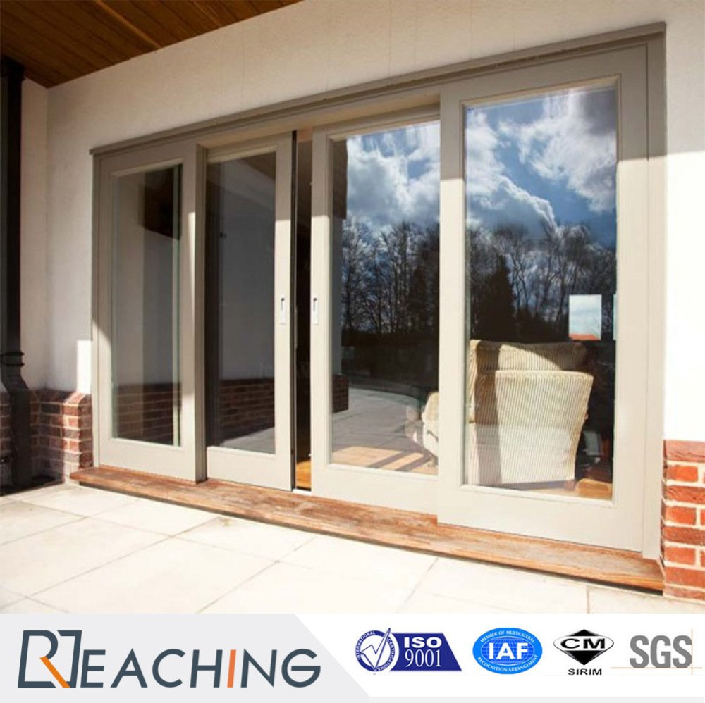 High Quality UPVC Window and Door Aluminum Frame Double Glass Folding Door