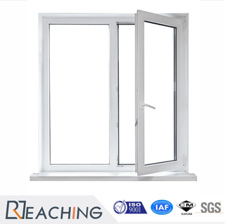 UPVC Profile 60mm Series Casement Window with 2 Sashes