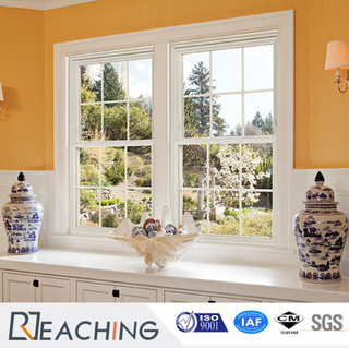 American Style UPVC Double Hung Window in Various Colors