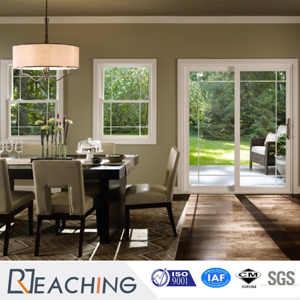Conch Profile UPVC Glass Hung Windows for Kitchen