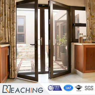 New Design Aluminum Profile Reflected Glass Casement Doors
